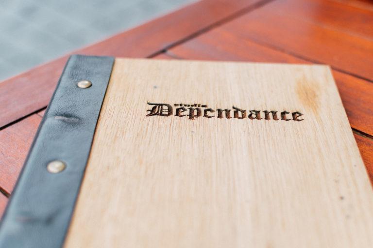 Dependance menukaart